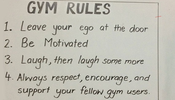 Chalong gym rules